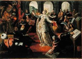 The dispute of Catherine of Alexandria with the philosophers