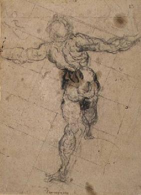 Study of a Male Nude from Behind c.1577