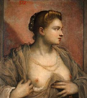Tintoretto / Woman with Uncovered Breast