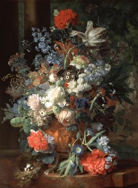 Bouquet of Flowers in a Landscape