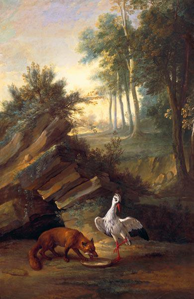 The Fox and the Stork 1747