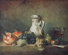 Still Life with Grapes and Pomegranates 1763