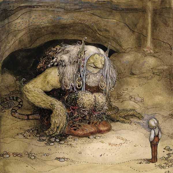 The Troll and the Boy (w/c on paper) 1903