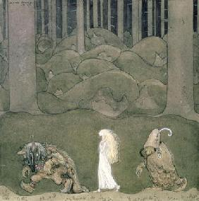 The Princess and the Trolls, 1913 (w/c on paper) 17th