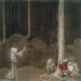 Brother St. Martin and the Three Trolls, 1913 (w/c on paper) 17th