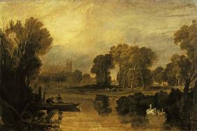 Eton College from the River, or The Thames at Eton c.1808