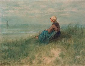 Girl in the Dunes Looking Out 1861