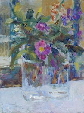 March Flowers (oil on canvas)