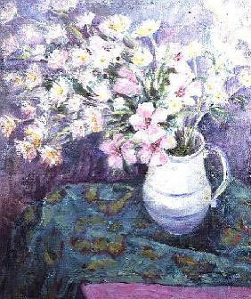 Pink Flowers in a Jug