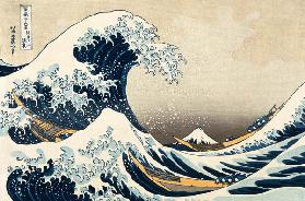 The Great Wave of Kanagawa, from the series ''36 Views of Mt. Fuji'' (''Fugaku sanjuokkei'') pub. Ni