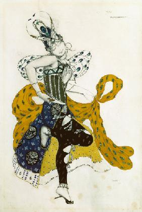 Sketch for the ballet 'La Peri', by Paul Dukas (1865-1935) 1911 cil a