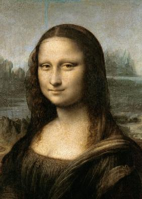 Detail of the Mona Lisa, c.1503-6