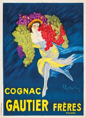 An advertising poster for Gautier Freres cognac 1907