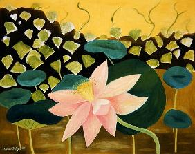 Lotus Flower, 1984 (oil on board)