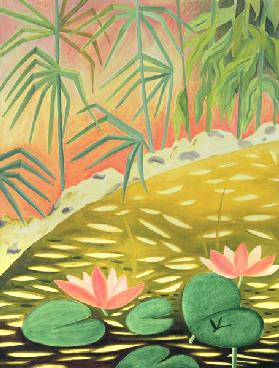 Water Lily Pond I, 1994 (oil on canvas)