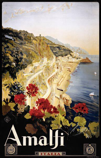 Amalfi Coast Travel Poster c.1910