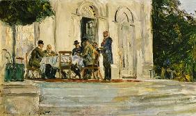 Dinner on the Badenburg Terrace at Castle Nymphenburg 1908