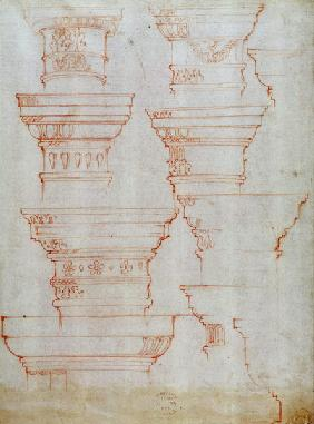 W.18v Study of column capitals