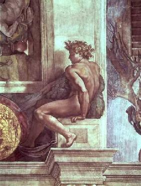 Ignudo from the Sistine Ceiling (pre restoration)