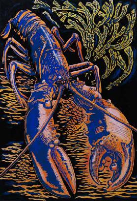 Lobster, 1998 (woodcut)