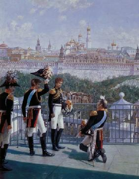 Prussian King Friedrich Wilhelm II (1744-97) thanking Moscow 1896