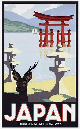 Japan: Advertising poster for Japanese Government Railways c. 1930