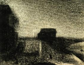 Seurat / Bridge of Courbevoie / Drawing