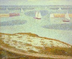Seurat / Port-en-Bessin / Painting, 1888