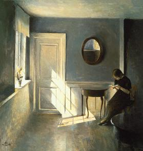Girl Reading a Letter in an Interior 1908
