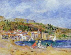 Le Lavandou (oil on canvas) 1859
