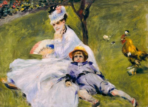 Renoir /Madame Monet with son Jean/ 1874