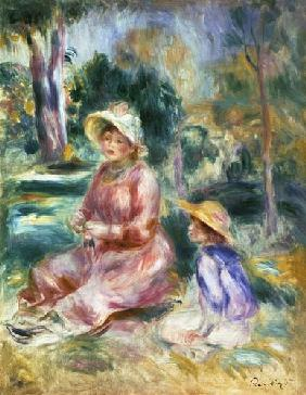 Madame Renoir and her son Pierre 1890