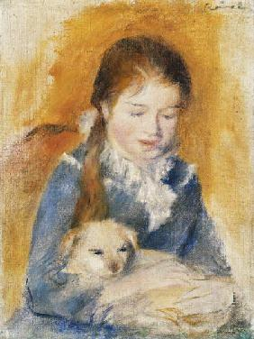 Young Girl with a Puppy