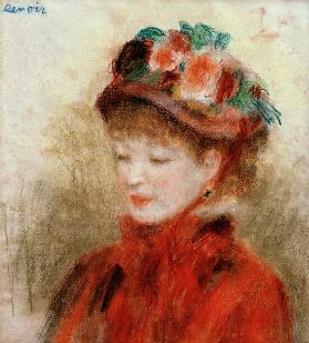 Renoir/Young woman wit.flower hat/c.1877