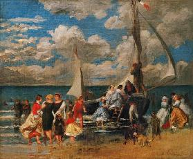 Meeting around a boat 1862