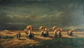 Gleaners at Chambaudoin 1857