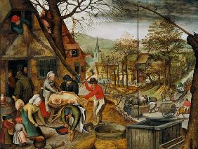 Brueghel d. J., Pieter : Allegory of Autumn (panel)