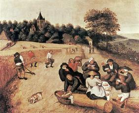 Brueghel d. J., Pieter : The Harvester's Meal