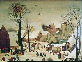 Brueghel d. J., Pieter : The Census at Bethlehem, d...