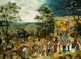 Brueghel d. J., Pieter : Christ on the Road to Calv...