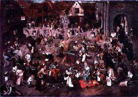 Brueghel d. J., Pieter : The Clash between Careme a...