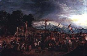 Brueghel d. J., Pieter : The Crucifixion