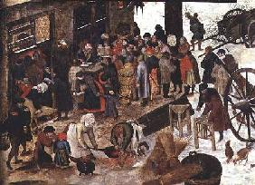 Brueghel d. J., Pieter : The Payment of the Tithe, ...