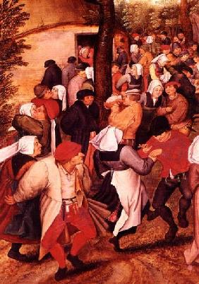 Brueghel d. J., Pieter : Rustic Wedding, detail of ...