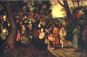 Brueghel d. J., Pieter : The Sermon of John the Bap...