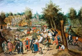 Brueghel d. J., Pieter : The Return from the Kermes...