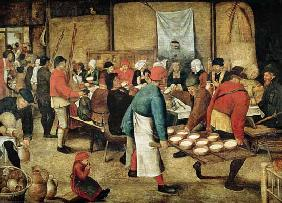 Brueghel d. J., Pieter : The Wedding Supper