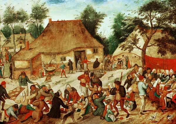 Brueghel d. J., Pieter : Wedding Feast