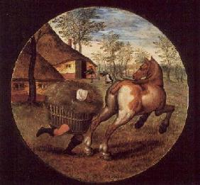 Brueghel d. J., Pieter : The World Turned Upside Do...