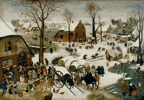 Brueghel d. J., Pieter : The Census at Bethlehem